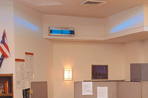 Hygeaire wall-mounted unit utilizing Germicidal UV