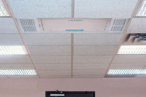 Sanitaire ceiling mount uses Germicidal UV