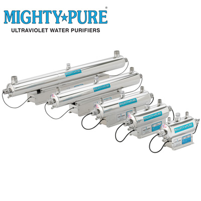 MightyPure ultraviolet water purifiers 3 - 20 GPM