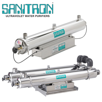 Sanitron ultraviolet water purifiers 3 - 416 GPM