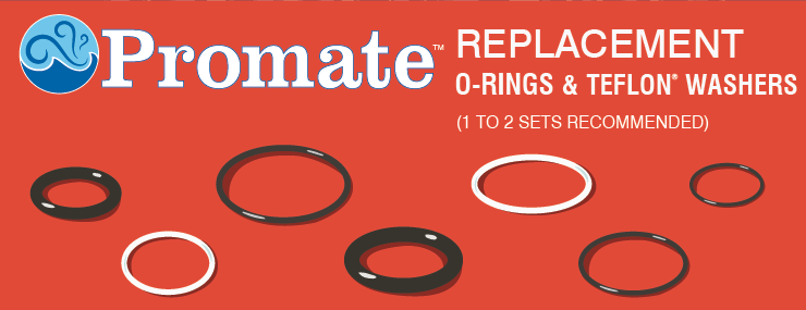 Promote Replacment O-Ring and Teflon Washer