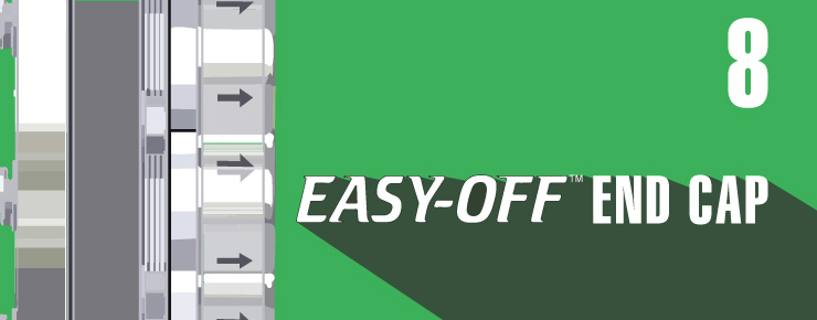 easy-off end cap