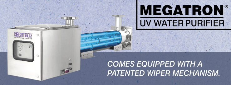 MEGATRON UV Water Purifier Comes Equipped with a Patented Wiper Mechanism