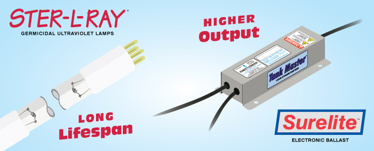 Long-Lifespan UV Lamps and Ballasts with Higher Output than Magnetic Ballasts