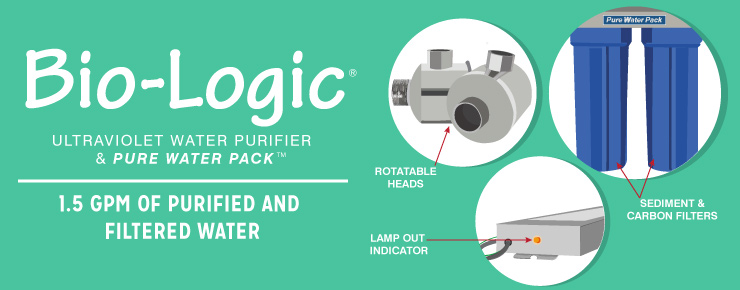 Bio-Logic Ultraviolet Water Purifier & Pure Water Pack