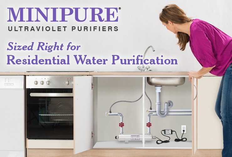 Minipure UV Purifier Sized Right for Residential Water Purification