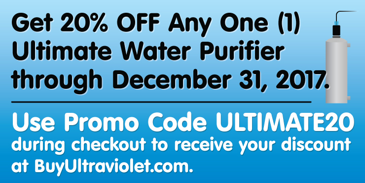 The Ultimate Sale on Simple, Safe UV Water Disinfection