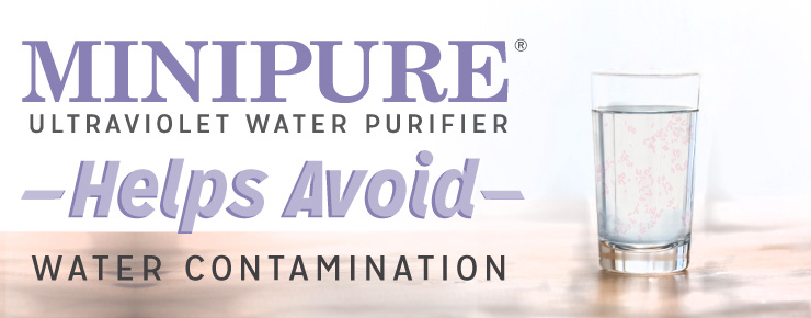 MINIPURE Ultraviolet Water Purifier Helps Avoid Water Contamination