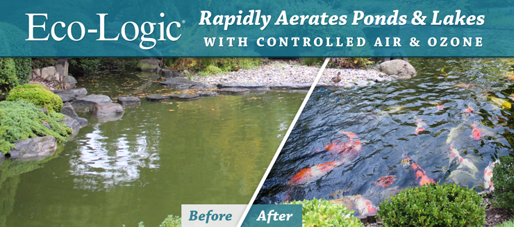Eco-Logic Pond and Lake Ozone Aeration Uses Controlled Air and Ozone Combination