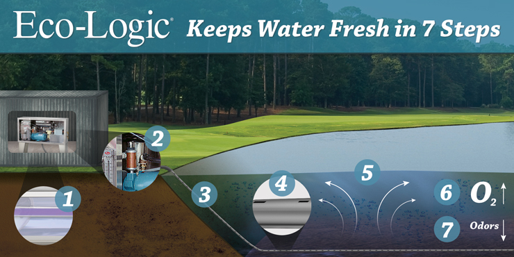 Eco-Logic Pond and Lake Ozone Aeration Keeps Water Fresh in 7 Steps