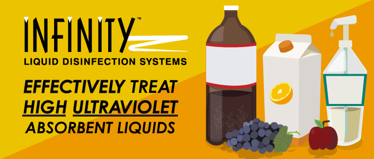 INFINITY Liquid Disinfection System Effectively Treat High Ultraviolet Absorbent Liquids