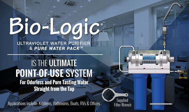 Bio-Logic is the Ultimate Point-of-Use System For Odorless and Pure Tasting water
