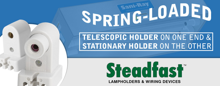 Spring-Loaded Telescopic Holder on One End & Stationary Holder on the Other