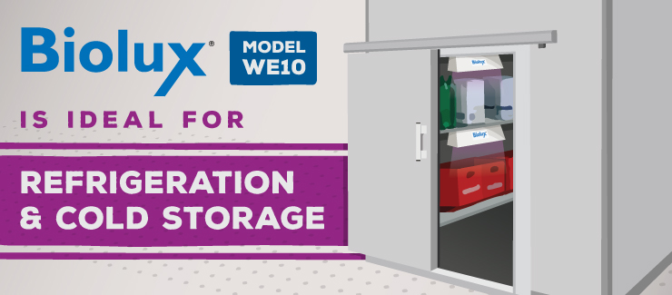 Biolux WE10 Germicidal UV Air and Surface Irradiation for Refrigeration and Cold Storage
