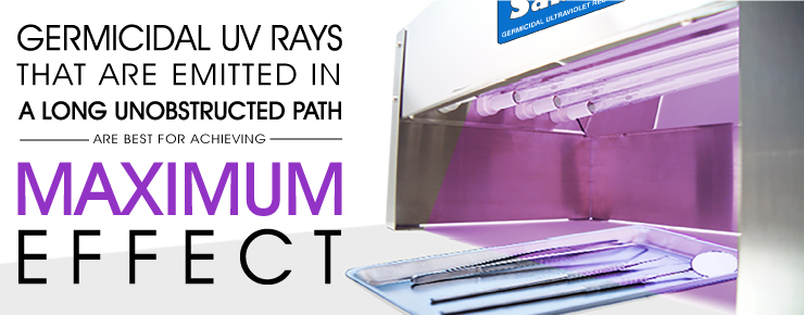Germicidal UV Rays Emit a Long Unobstructed Path for Maximum Effect