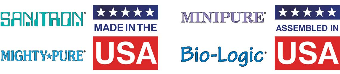 Sanitron and Mighty Pure UV Purifiers Made in the USA, Minipure and Bio-Logic UV Purifiers Assembled in the USA