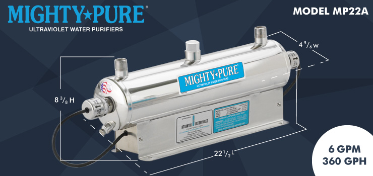 Mighty Pure Model MP22A - 6GPM - 360GPH