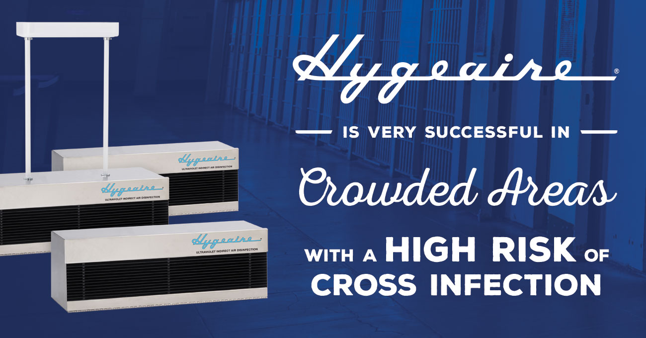 Hygeaire Indirect UV Air Purification is Very Successful in Crowded Areas with a High Risk of Cross Infection