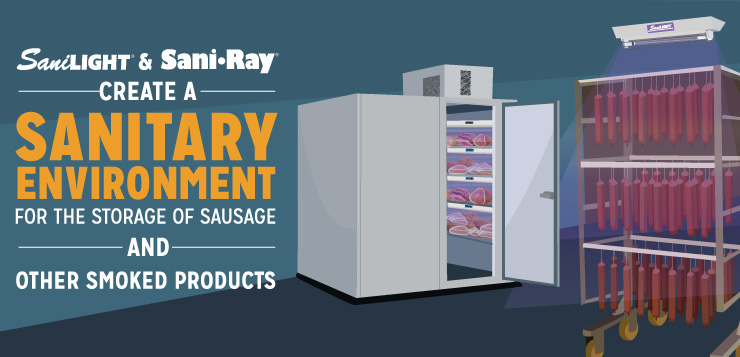 SaniLIGHT and SaniRay Create a Sanitary Environment For The Storage of Sausage and Other Smoked Products
