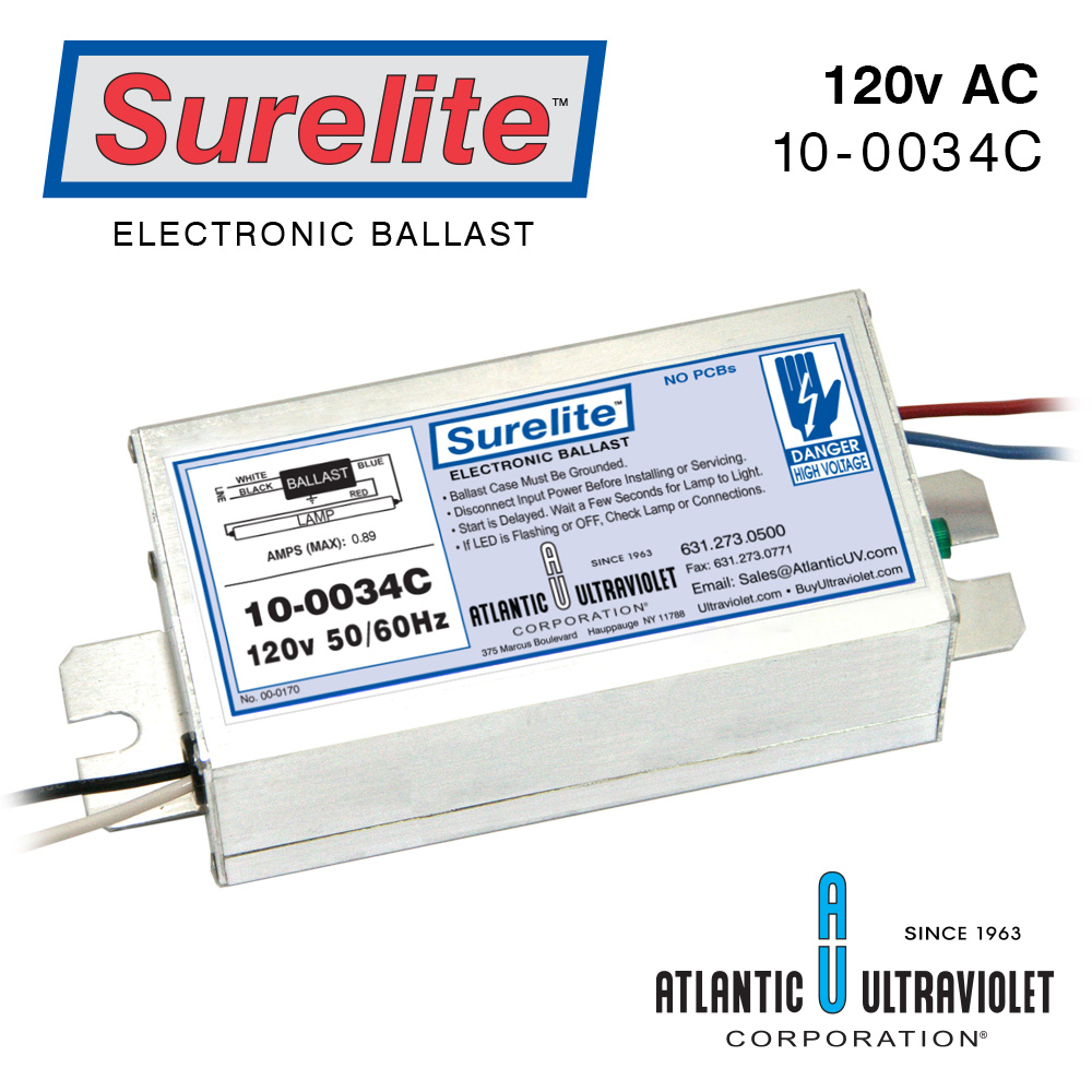 Surelite Electronic Ballasts For Uv Lamps 4 Light Ballast Wiring Diagram Parallel 10 0034c