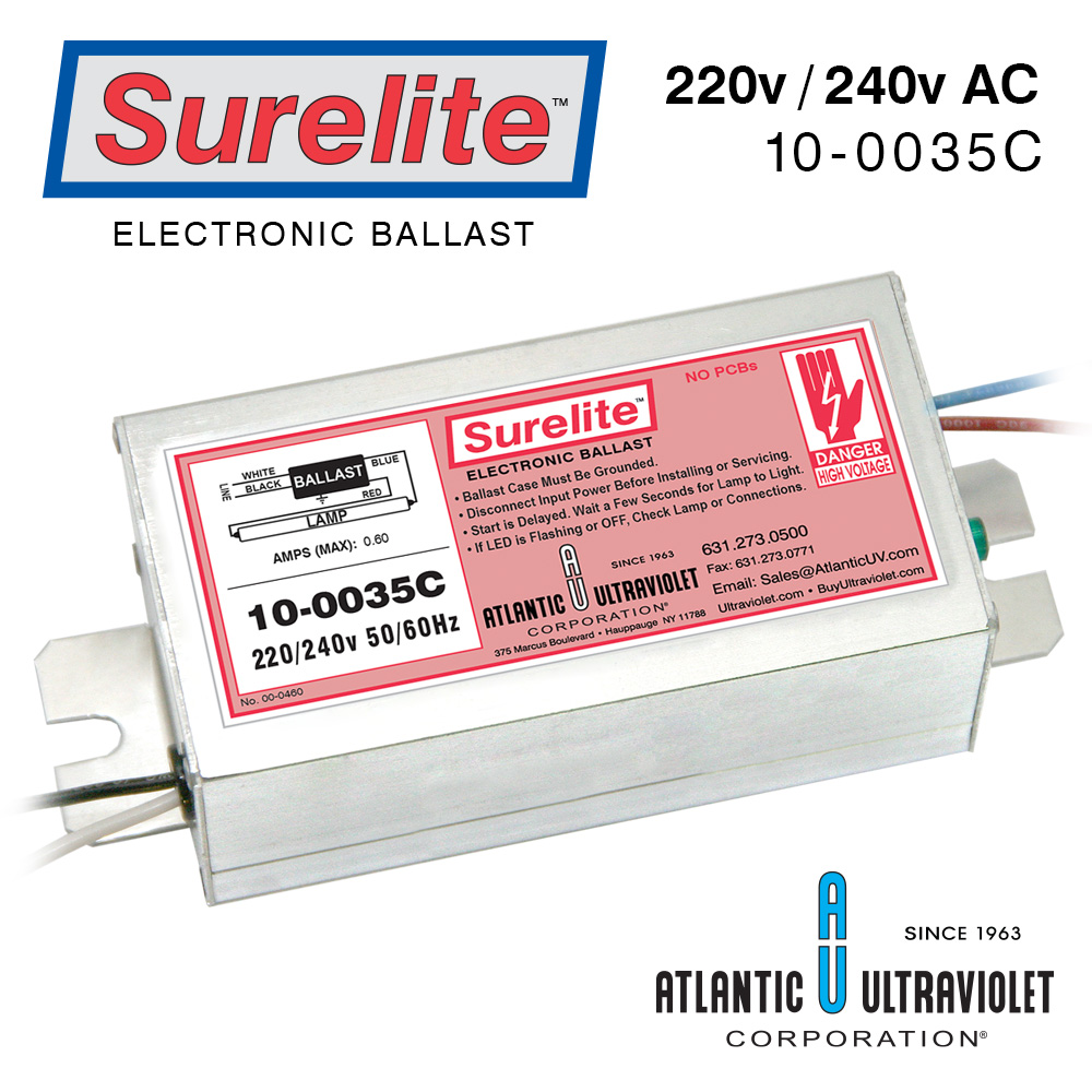 Surelite Electronic Ballasts For Uv Lamps 240v Ballast Wiring Diagram 10 0035c