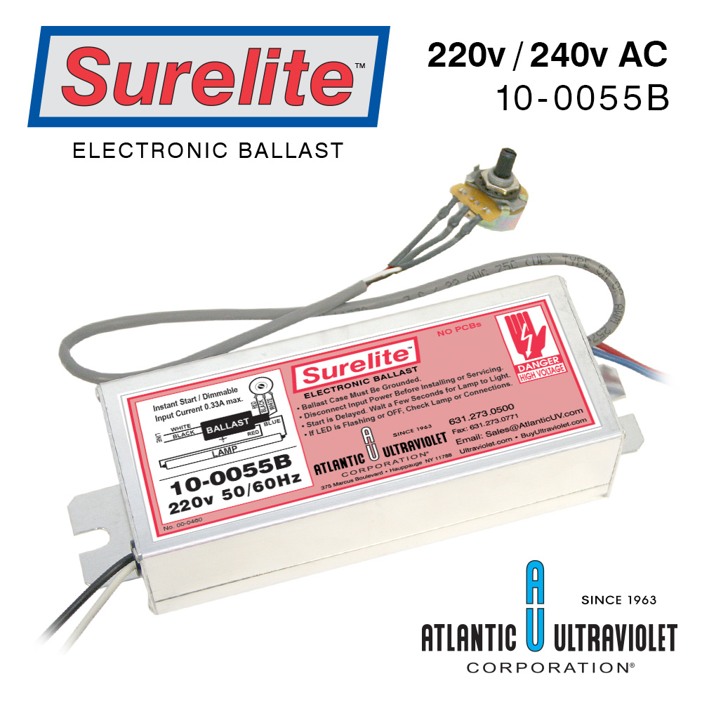 Surelite Electronic Ballasts For Uv Lamps Pdf Ballast Wiring Diagram 10 0055b