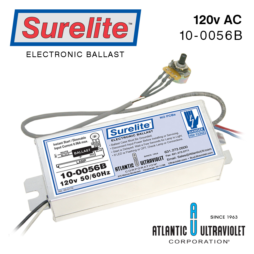 Surelite Electronic Ballasts For Uv Lamps How To Hook Up Ballast 10 0056b 120v 50 60hz