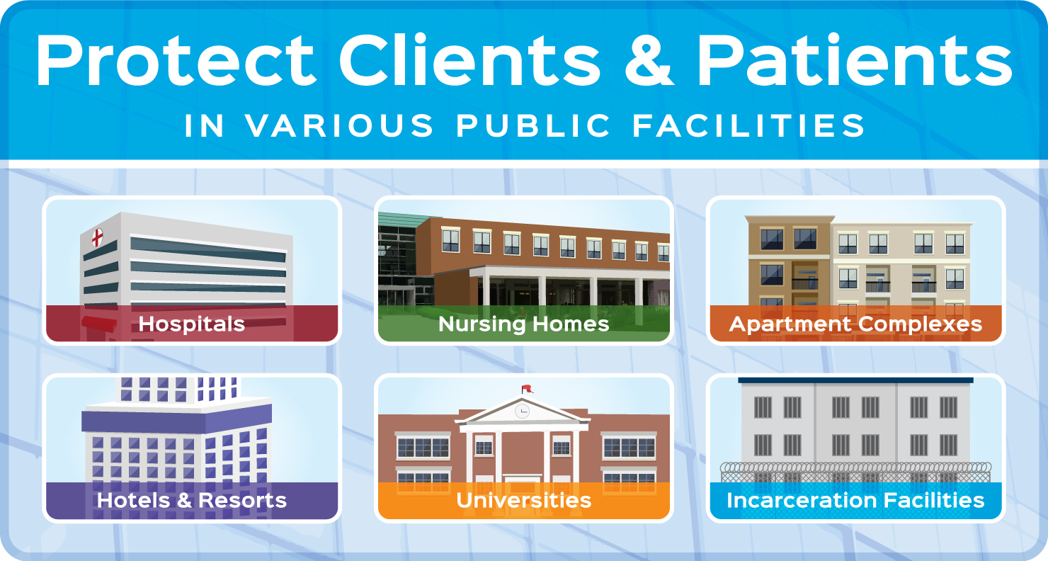 UV-C Protects Clients and Patients in Various Large Facilities During Boil Water Alerts