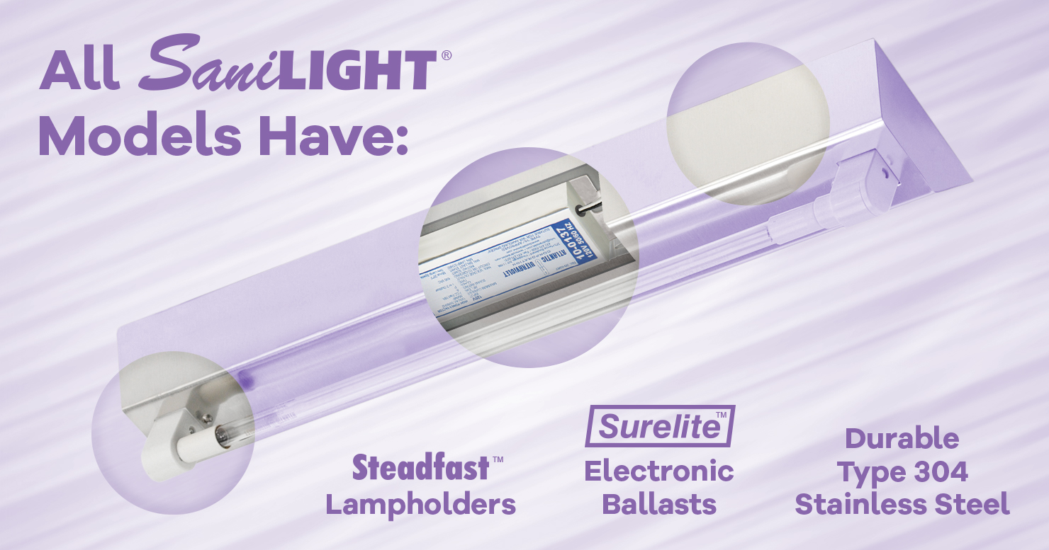 All SaniLIGHT Models Have These 3 Features