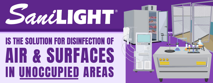 SaniLIGHT is the Solution for Disinfection of Air & Surfaces in Unoccupied Areas