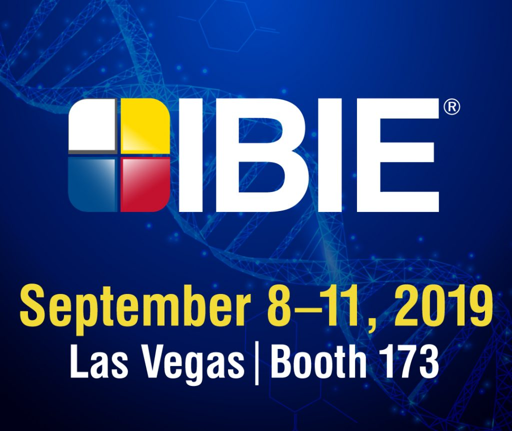 IBIE Tradeshow: September 8–11, 2019 in Las Vegas (Booth 173)