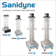 Sanidyne Ultraviolet Portable Area Sanitizer for Disinfecting Air & Surfaces