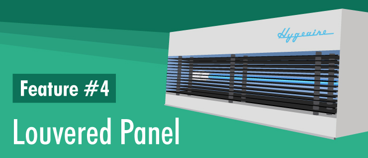 Hygeaire Ultraviolet Indirect Air Disinfection Louvered Panel Directs UV Rays to Upper Room Air