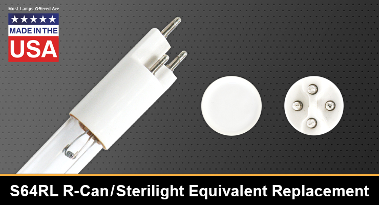 S64RL R-Can / Sterilight Equivalent Replacement UV-C Lamp