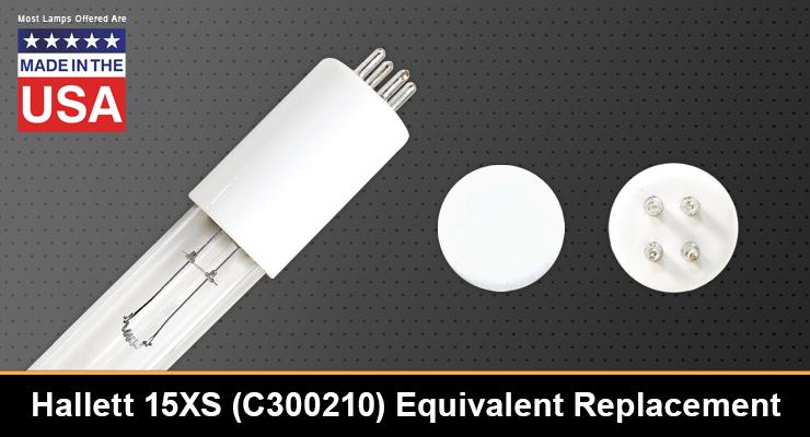 Hallett 15XS C300210 Equivalent Replacement UV-C Lamp