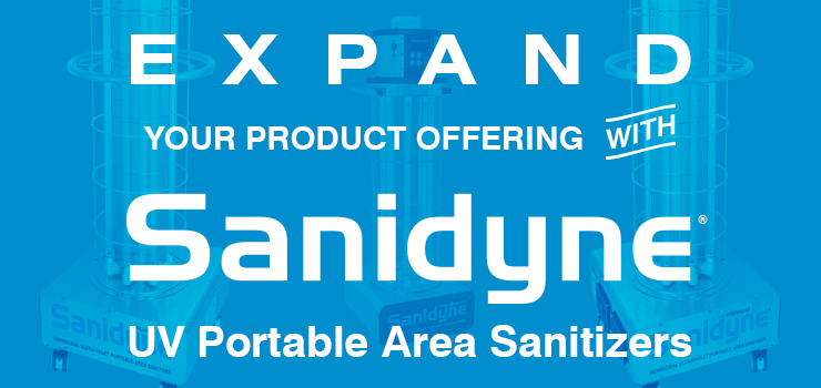 Expand Your Product Offering with Sanidyne UV Portable Area Sanitizers
