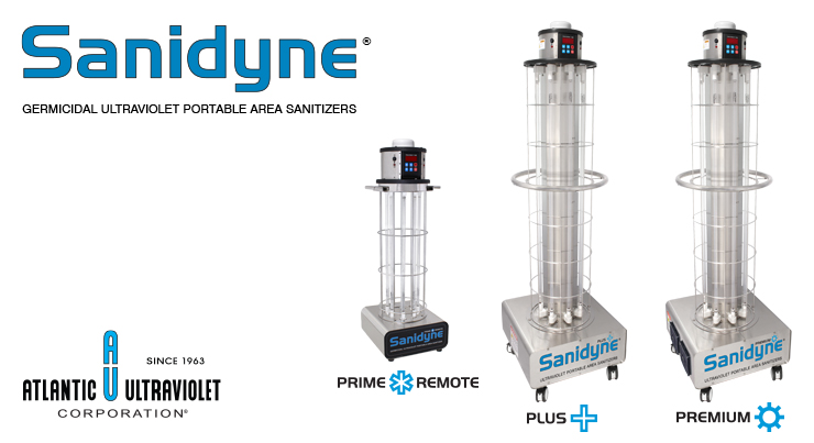 Sanidyne UV Portable Area Sanitizers come in 3 models