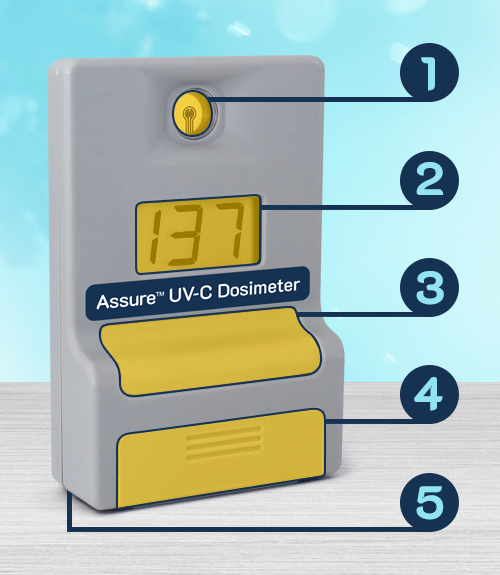 Specifications & Features of the Assure UV-C Dosimeter