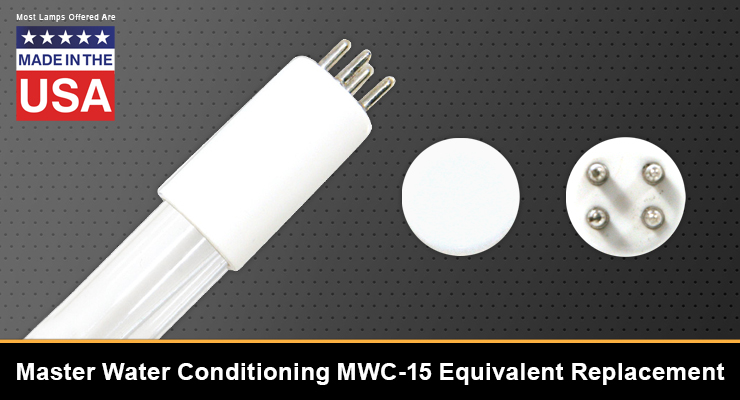 Master Water Conditioning MWC-15 Equivalent Replacement UV-C Lamp