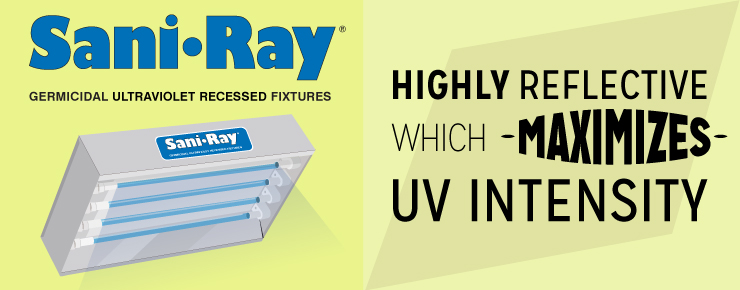 SaniRay is Highly Reflective which Maximized UV Intensity