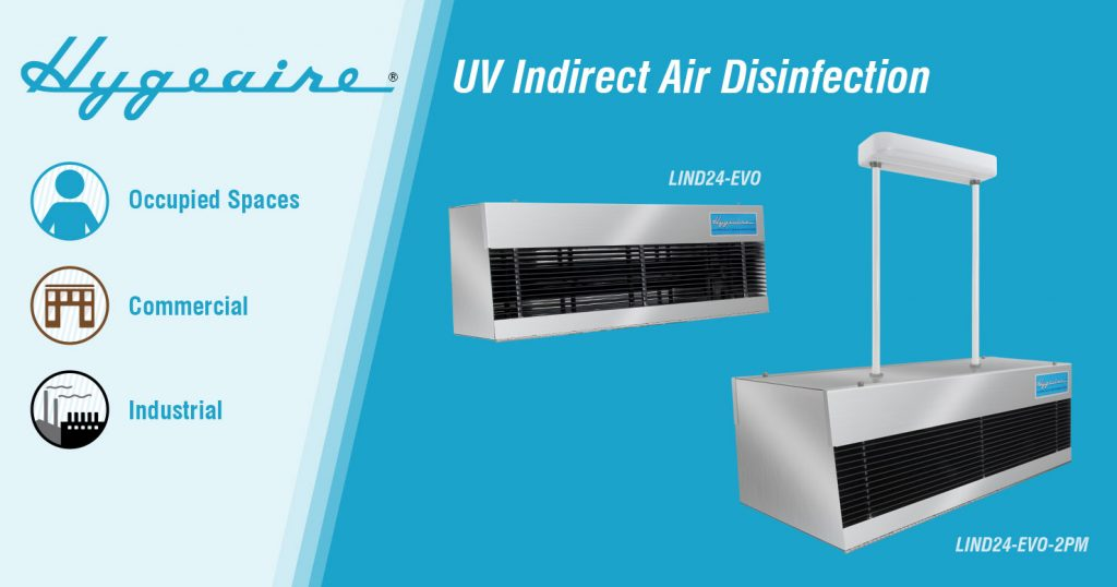 Hygeaire Germicidal Ultraviolet Indirect Air Disinfection