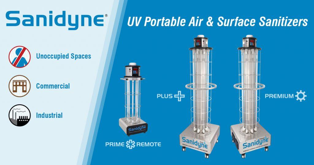 Sanidyne Germicidal Ultraviolet Portable Area Sanitizers