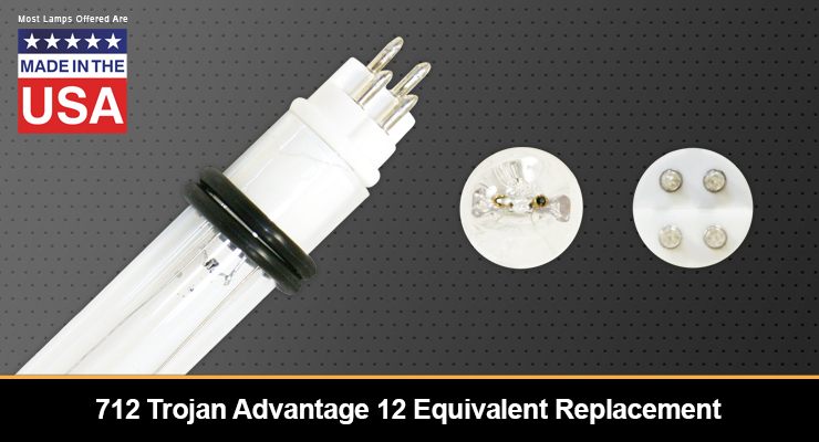 712 Trojan Advantage 12 Equivalent Replacement UV-C Lamp