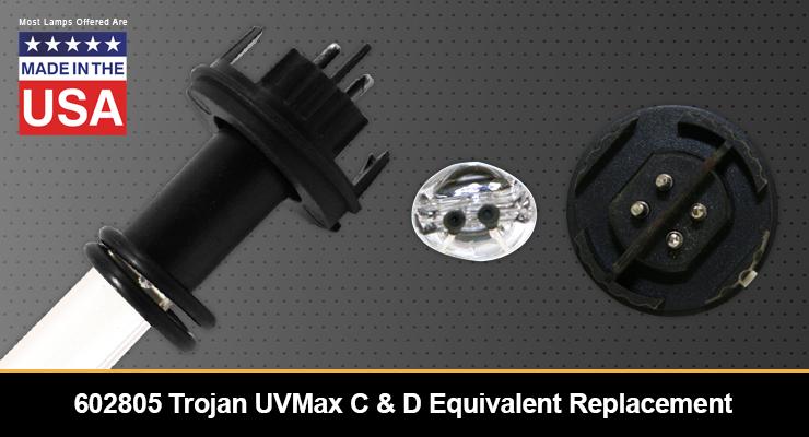 602805 Trojan UVMax C & D Equivalent Replacement UV-C Lamp