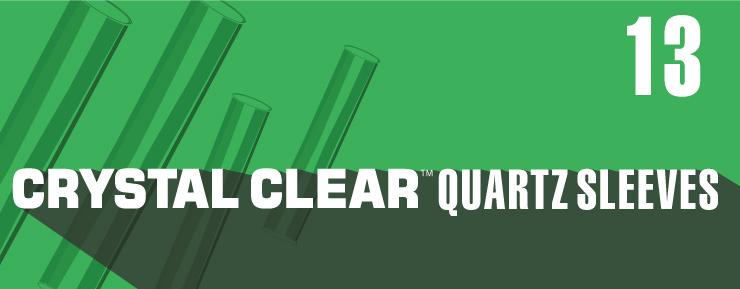 crystal clear quartz sleeves