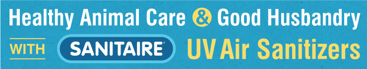 Healthy Animal Care and Good Husbandry with SANITAIRE UV Air Sanitizers