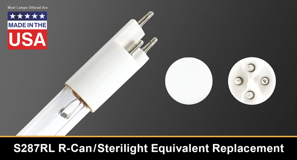 Germicidal Ultraviolet Lamp S287RL R-Can/Sterilight Equivalent Replacement