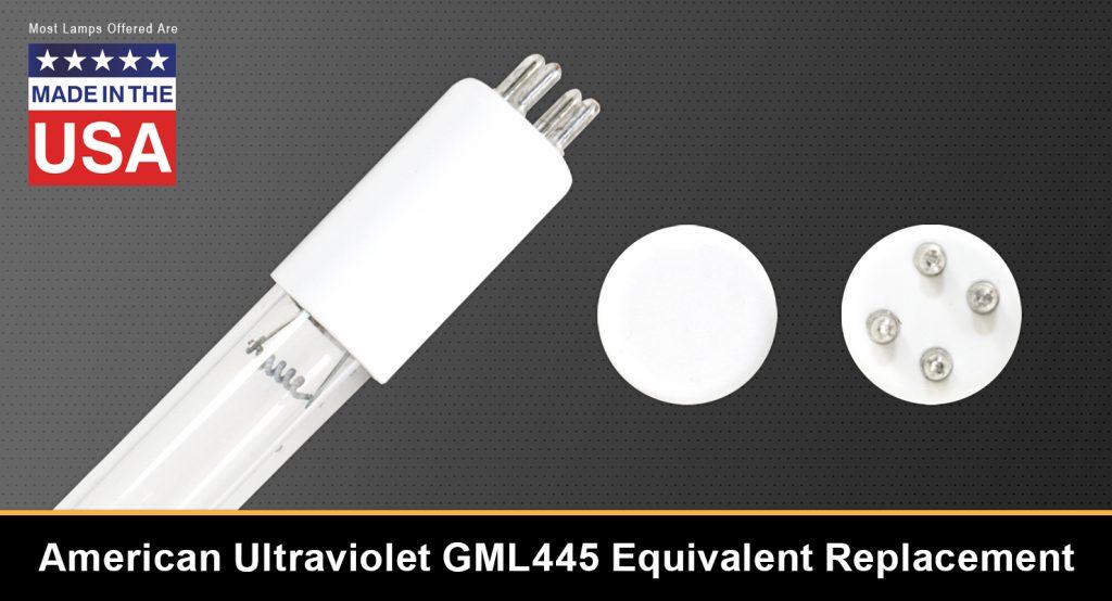 American Ultraviolet GML445 Equivalent Replacement UV-C Lamp